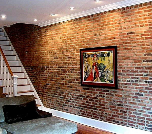 Brick Basement Wall  If basement walls are originally brick instead of poured concrete leave 20 Clever and Cool Ideas Hative