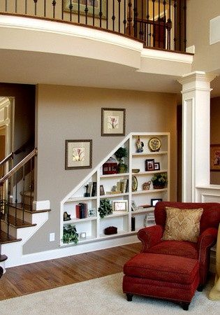 Bookcase in Basement Wall  built into the wall gives more space room 20 Clever and Cool Ideas Hative