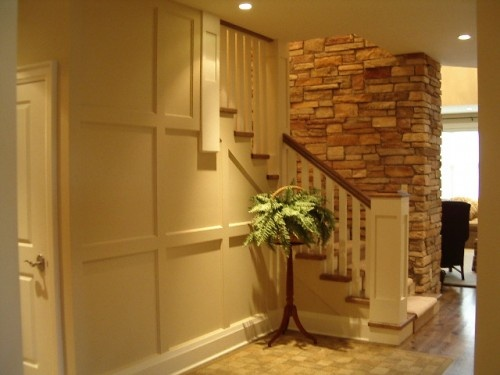 White Trim  Rustic Rock 20 Clever and Cool Basement Wall Ideas Hative