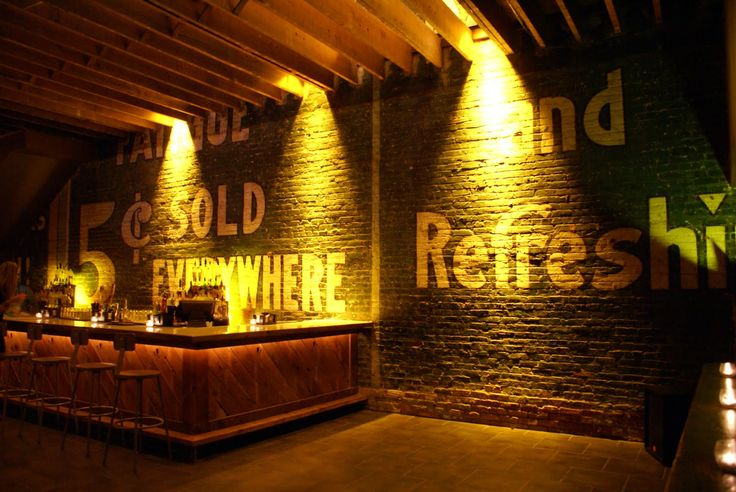 Basement Bar Wall Idea. A definite different basement wall idea instead of just trying to & 20 Clever and Cool Basement Wall Ideas - Hative