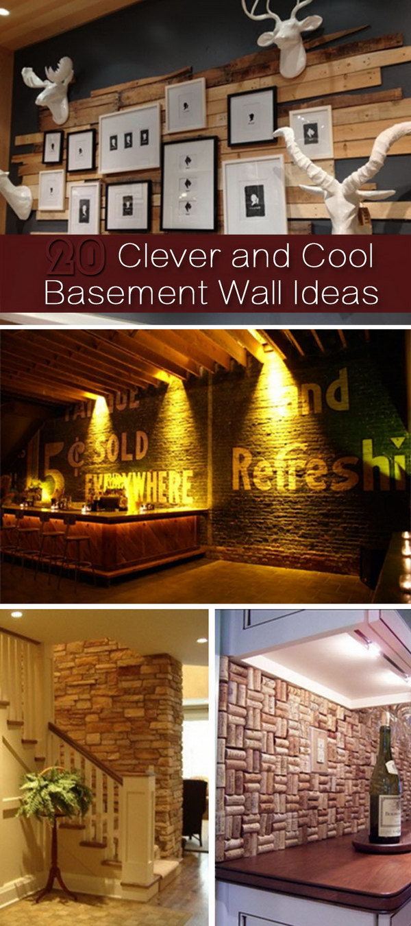 Clever and Cool Basement Wall Ideas!