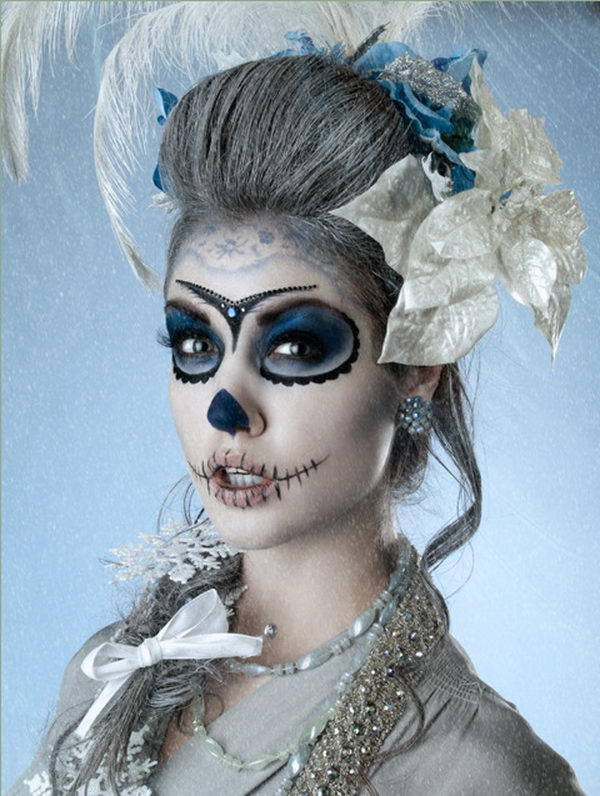 Día de los Muertos Sugar Skull Makeup Art,