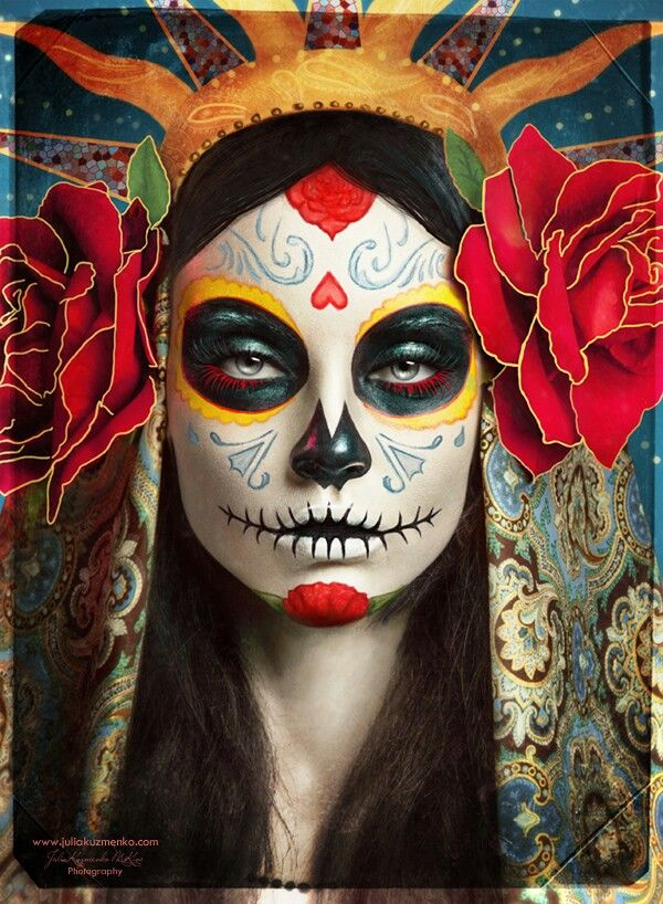 20 cool d a de los muertos sugar skull makeup art examples hative. Black Bedroom Furniture Sets. Home Design Ideas