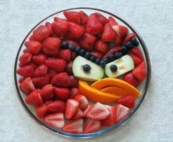 Make Food Fun: Angry Bird Fruit Plate Edible Arrangement