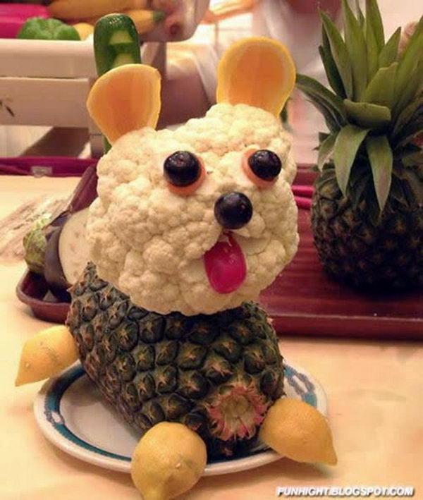Funny Dog Edible Arrangment,