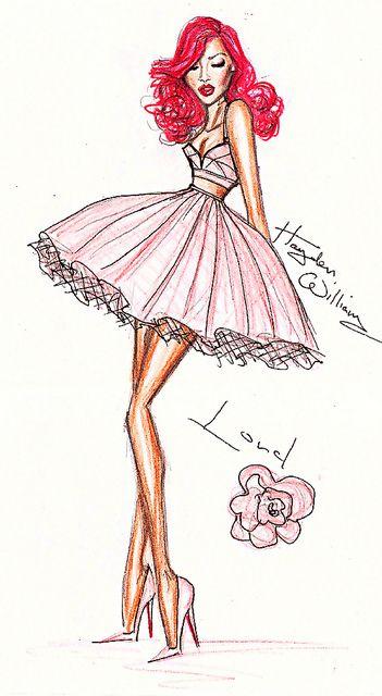 Rihanna Fashion Illustration by Hayden Williams.