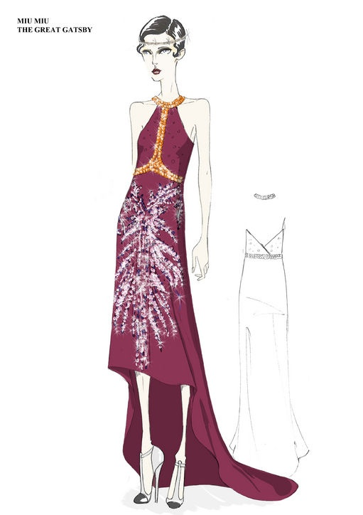 Prada Sketches for The Great Gatsby.