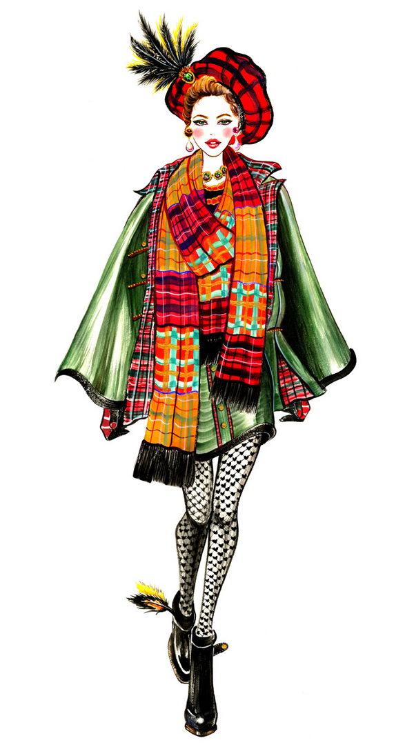 Fall Fashion Sketch.