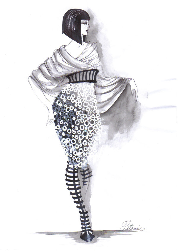 Fashion Sketches by Elke Ines Szilier.