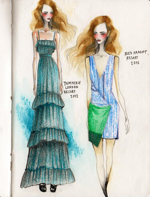 Fashion Sketches by Wa tinee Paleebut.