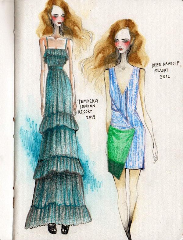 Fashion Sketches by Wa-tinee Paleebut.