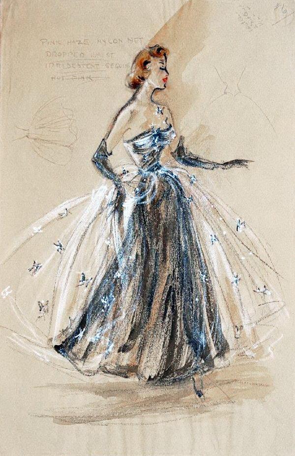 Edith Head Sketch.