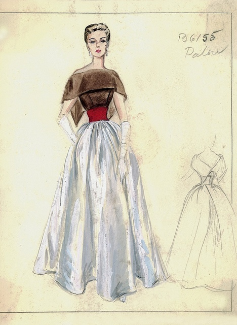 Vintage Fashion Sketch.