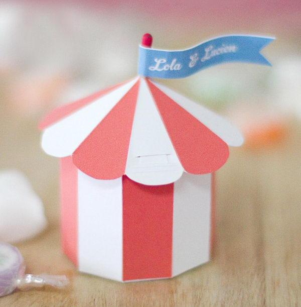 Circus Tent Favor Box & 40+ Creative DIY Favor Boxes - Hative