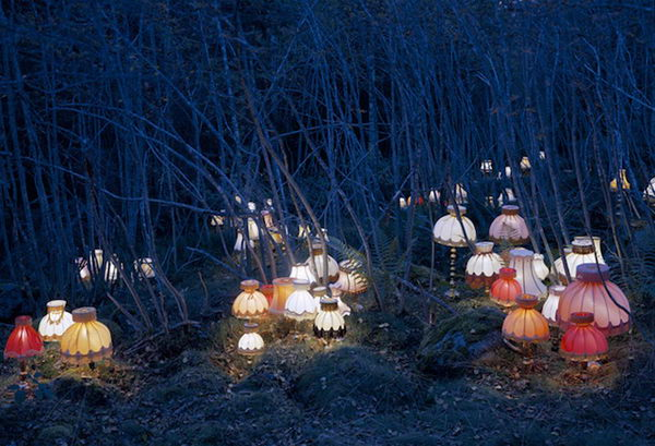 Light Installation. Conceptual artist Rune Guneriussen transforms the most ordinary of objects into large scale installations that pepper the dreamlike landscape of his native Norway.
