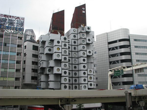 Nakagin Capsule Tower (Tokyo, Japan).