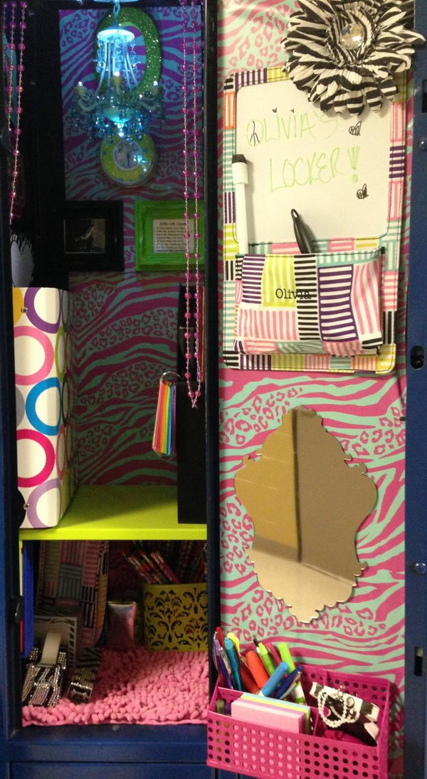 locker decor for girl - Locker Designs Ideas