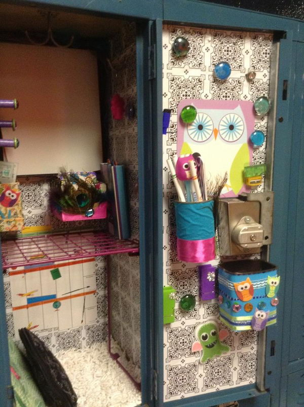 contact paper locker decoration contact paper makes more sense its more cost efficient and - Locker Designs Ideas