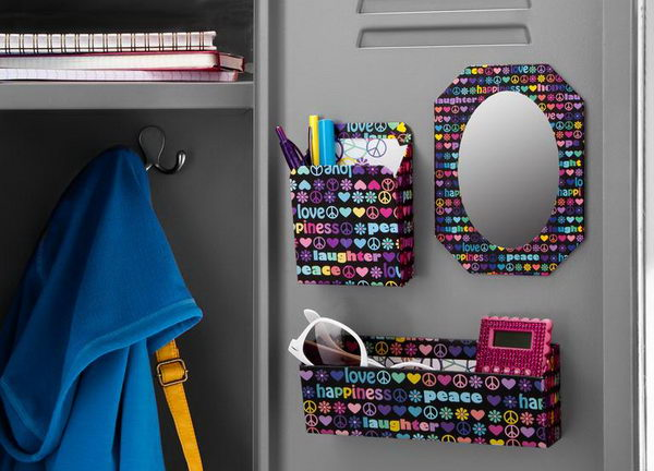 colorful locker decoration brighten up your locker and your day with vibrant color accessories with - Locker Designs Ideas