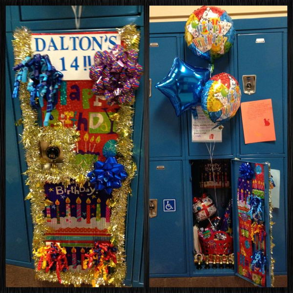 birthday locker decoration - Locker Designs Ideas