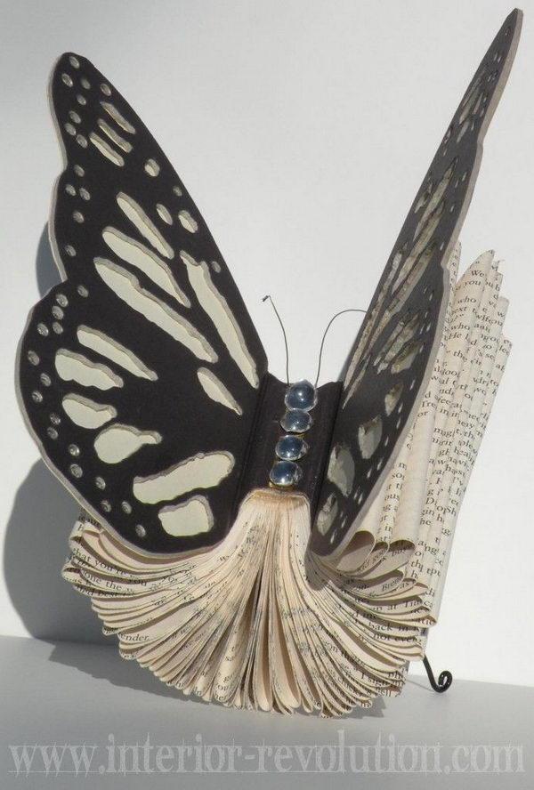 Blinging Butterfly Book Art,