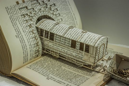 20 Clever And Cool Old Book Art Examples Hative