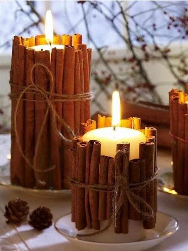 DIY Candle Primitive Decoration,