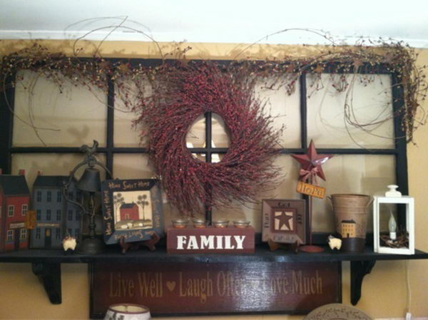 20 best primitive decorating ideas hative - Country wall decor ideas ...