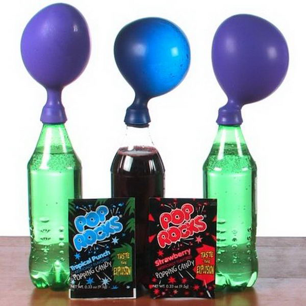 science project pop rocks cool candy expander gas dioxide carbon pressurized pebbles contains amount each hative