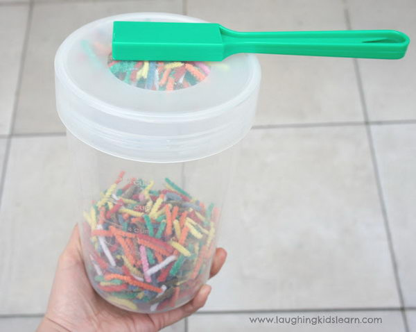 Magnetic Force Experiment. Basically it happens because magnets have an invisible force field that causes it to attract and stick to metals such as what is found inside these pipe cleaners. This force is strong enough to pass through some materials like the plastic of this container.