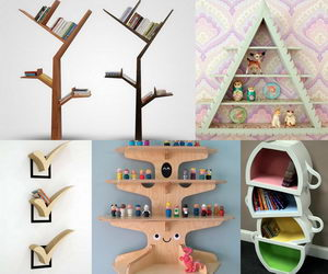 shelving ideas collage