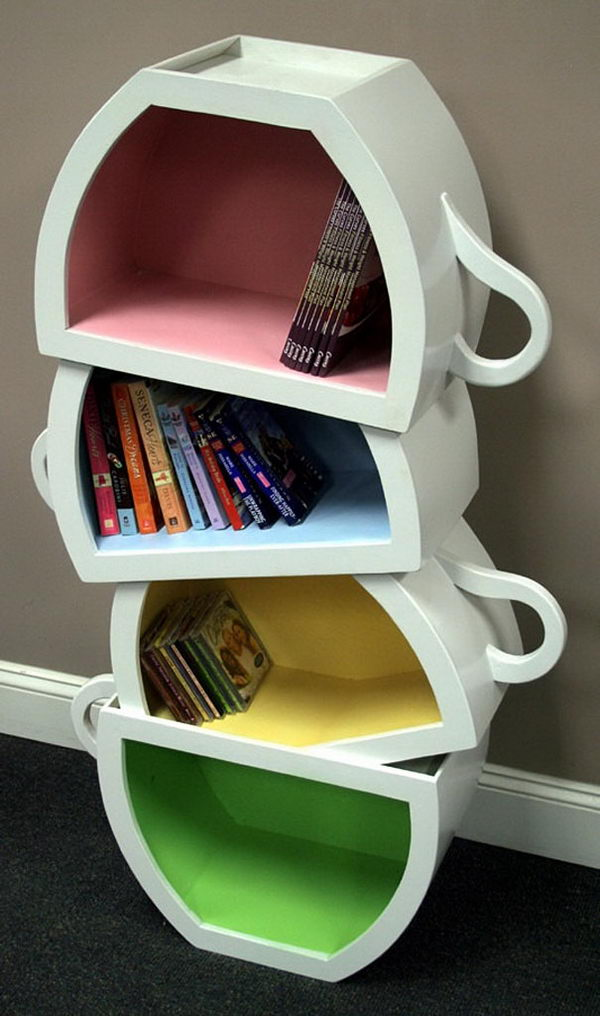 Stacked Teacup Shelves,