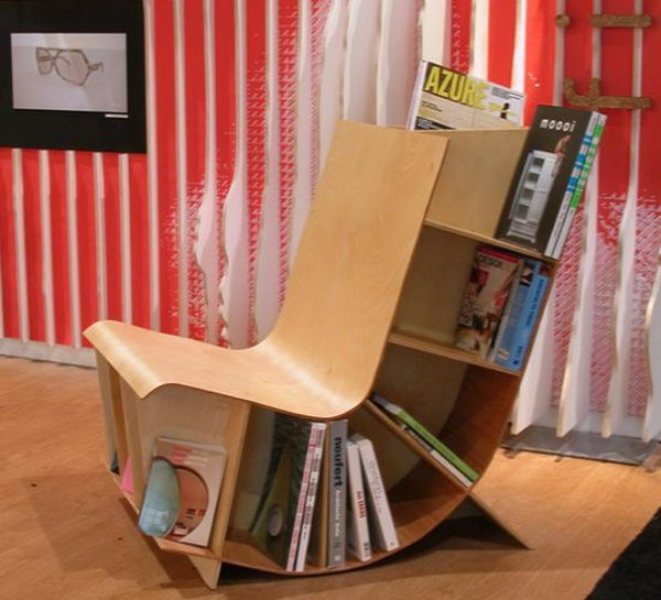 Bookseat Decorative Shelving Idea,