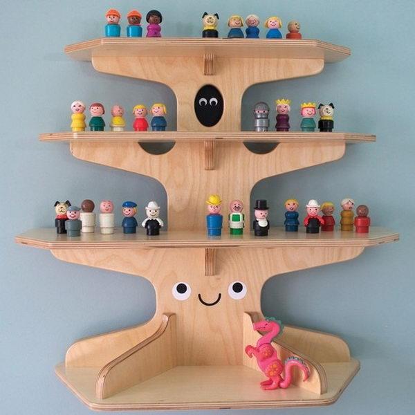 Wooden Treehouse Shelf,