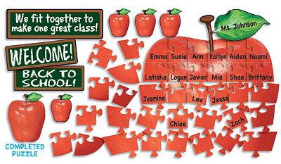 Apple Puzzle Bulletin Board.
