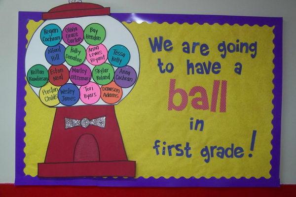 Have A Ball Bubble Gum Bulletin Board.