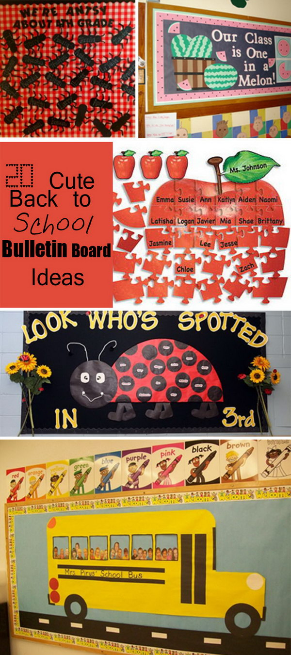 Classroom Decoration Ideas For Pre Primary School ~ Cute back to school bulletin board ideas hative