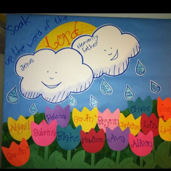 Creative Bulletin Board Ideas For Kids on Garden Of Good Manners Chart