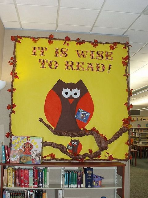 Owl Library Bulletin Board