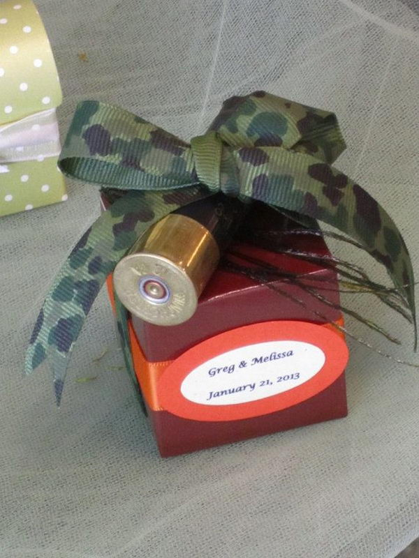 Rustic Hunting Camouflage Wedding Favor.