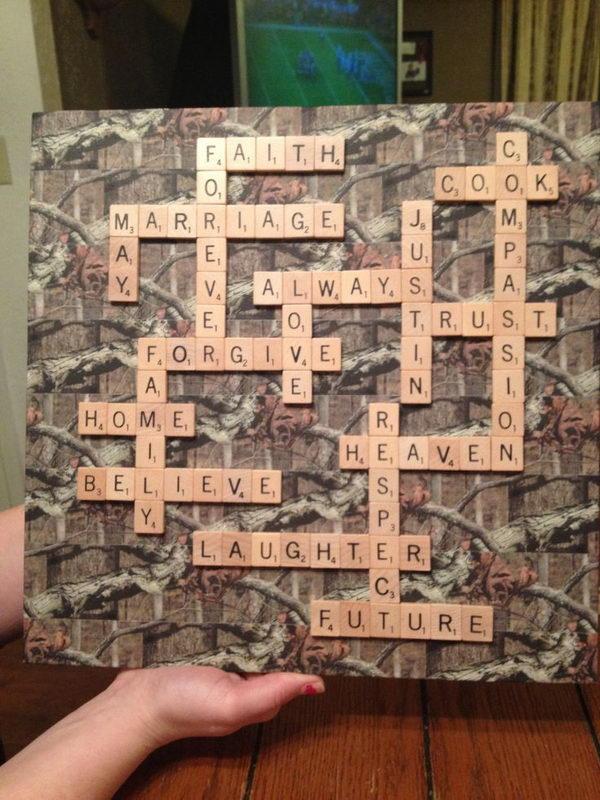Camoflauge Scrabble Decor
