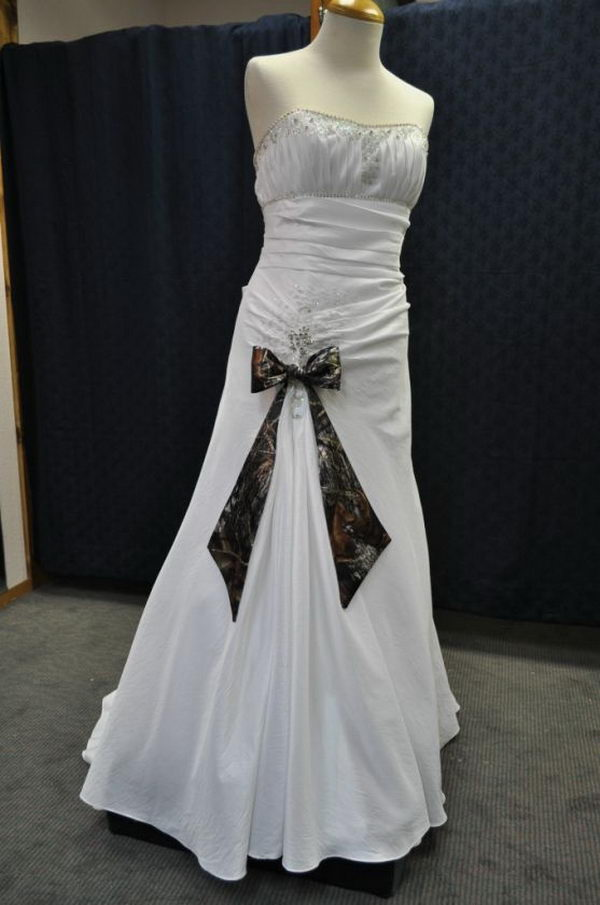 Camouflage Wedding Dress