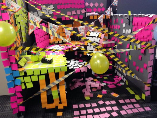 20 creative diy cubicle decorating ideas hative for 50th birthday decoration ideas for office