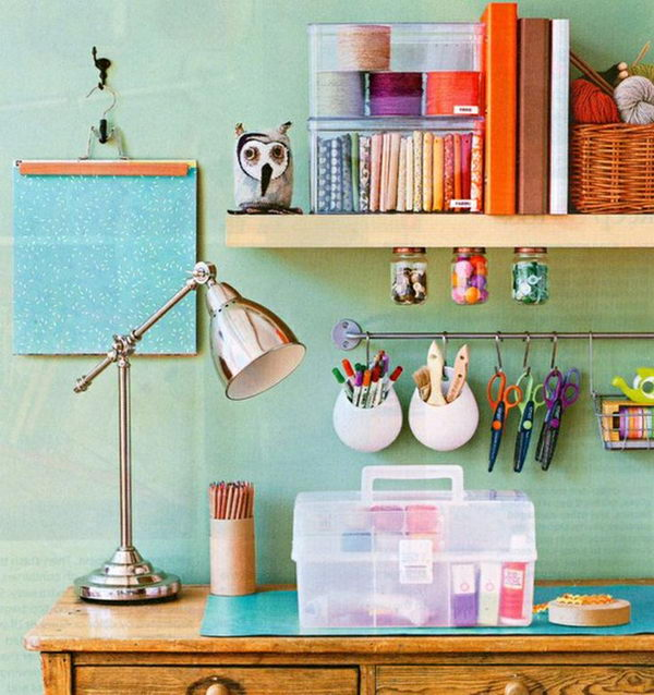 20 creative diy cubicle decorating ideas hative - Desk organization products ...