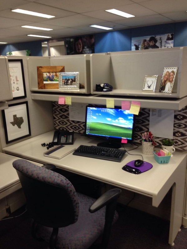20 creative diy cubicle decorating ideas hative Office cubicle design ideas