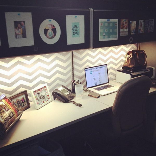 20 creative diy cubicle decorating ideas hative for How to decorate desk in office