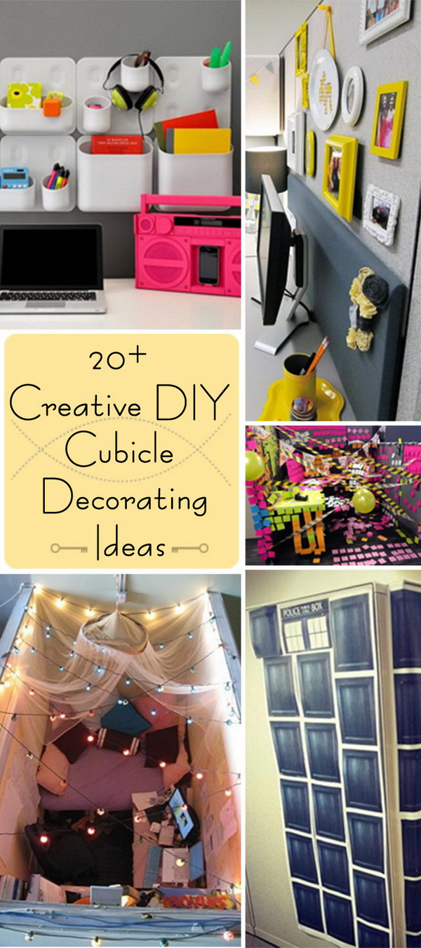 Design Cubicle Decorating Ideas 20 creative diy cubicle decorating ideas hative ideas