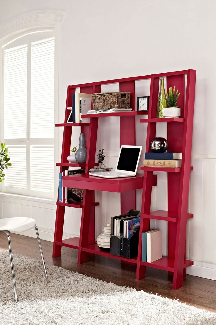 20 creative ladder ideas for home decoration hative for Small pull out desk