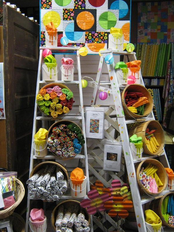 20 creative ladder ideas for home decoration hative for Used craft fair tents