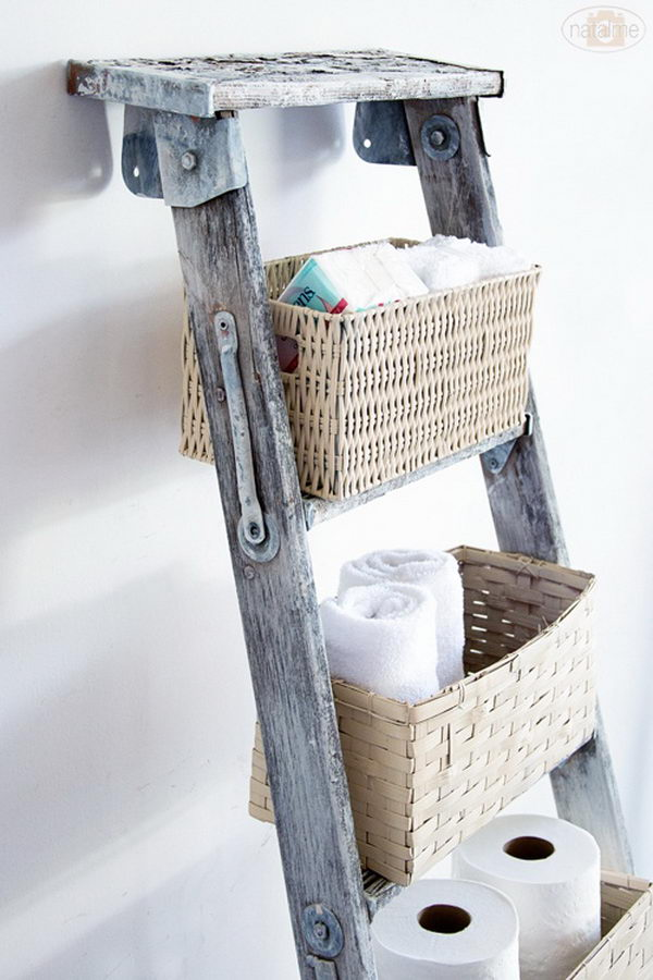 20 creative ladder ideas for home decoration hative - Idee deco echelle bois ...